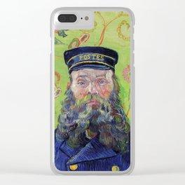 Vincent Van Gogh Postman Portrait Of Joseph Roulin Clear iPhone Case