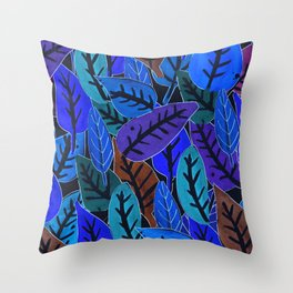 Forest of Leaves Throw Pillow