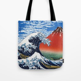 "Hokusai ""The Great Wave off Kanagawa"" & ""Fine Wind, Clear Morning"" Tote Bag"