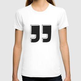Quotation marks T-shirt