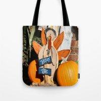 turkey Tote Bags featuring Turkey Timer by IowaShots