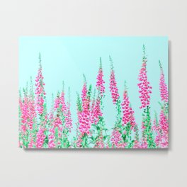Summer Pastell Flowers by the Way Metal Print