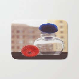 Glass Flowers Bath Mat