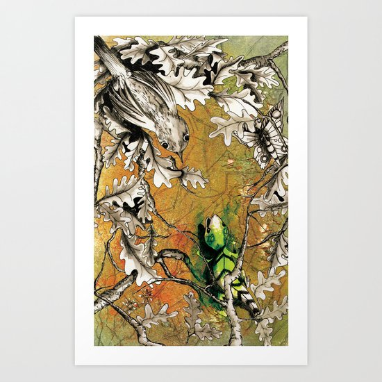 The Nightingale and the Lizard Art Print