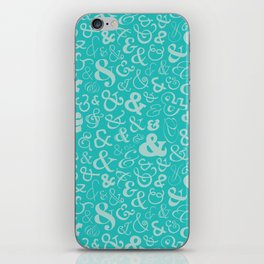 Ampersands - Turquoise iPhone Skin