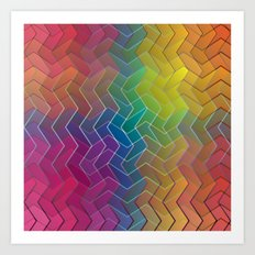 Zigzag & Zigzag 6 Art Print