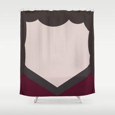 Deanna Troi - Minimalist Star Trek TNG The Next Generation - 1701 D - startrek - Trektangles Shower Curtain