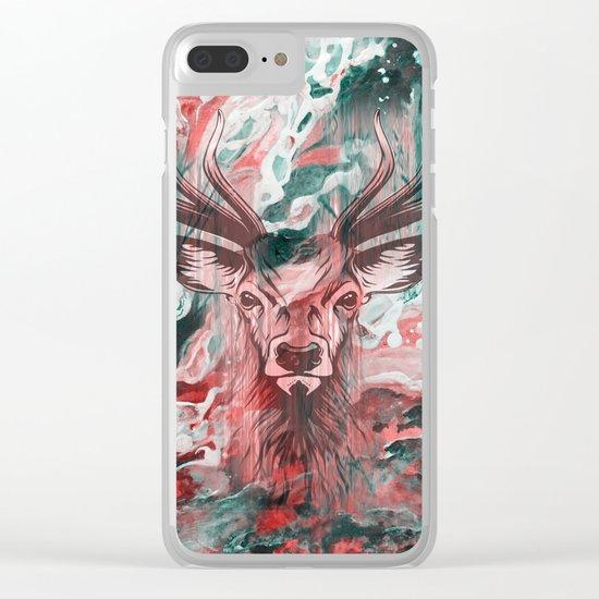 Deer's Scream Clear iPhone Case