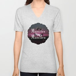 Muscles and Mascara Unisex V-Neck
