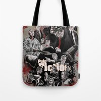 pulp fiction Tote Bags featuring Pulp Fiction by AWAL