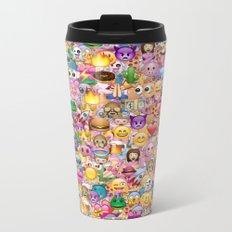 emoji / emoticons Metal Travel Mug