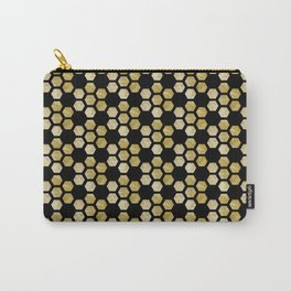 Golden Honeycomb Carry-All Pouch