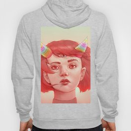 Red girl with horns Hoody