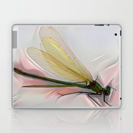 Dragonfly creeps on a white Laptop & iPad Skin