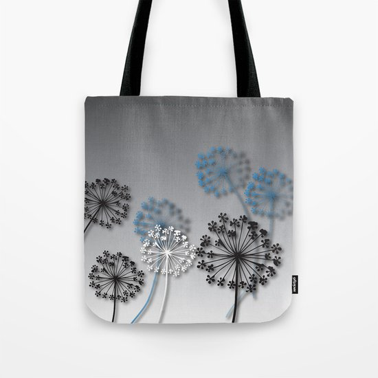 Mysterious Flowers Tote Bag