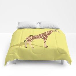Giraffe and friend Comforters