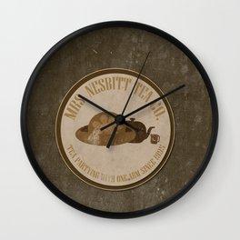 mrs. nesbitt tea co. funny toy story disney buzz lightyear brown grunge. Wall Clock