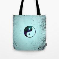 yin yang Tote Bags featuring Yin & Yang by Mr and Mrs Quirynen