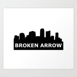 Broken Arrow Skyline Art Print