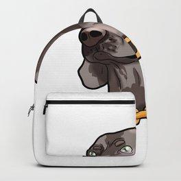 Weimaraner Weim Grey Ghost Doggie Dog Puppy Gift Backpack