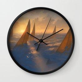 Cloud Regatta Wall Clock