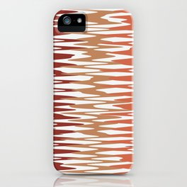 Abstract Waves in brown colour-scheme iPhone Case