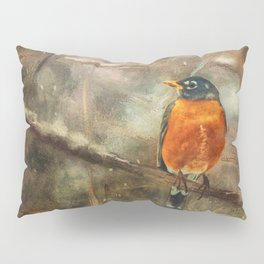 American Robin In The Snow Pillow Sham