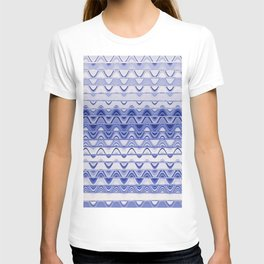 Aztec pattern light blue T-shirt