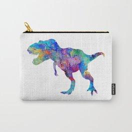 Dinosaur T-Rex Tyrannosaurus Rex Art Animals Nursery Decor Kids Room Watercolor Print Blue Purple Di Carry-All Pouch