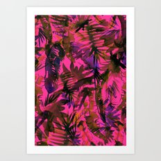 Vibe of the Jungle {Red} Art Print