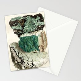 Vintage Mineralogy Illustration Stationery Cards