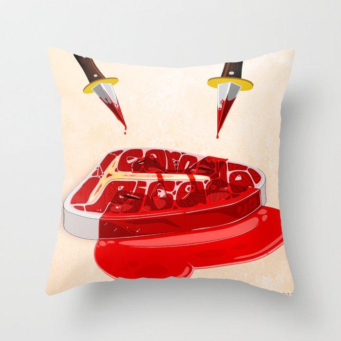 Carne Picada Throw Pillow