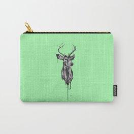 Deer Head III (mint green) Carry-All Pouch