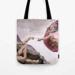 Pixel Creation of Adam Tote Bag