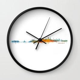 Istanbul City Skyline Hq v2 Wall Clock