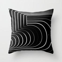 Number «5» Throw Pillow