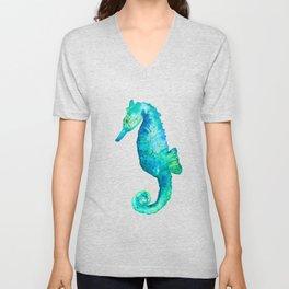 Rudy the seahorse Unisex V-Neck