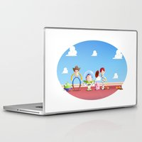 toy story Laptop & iPad Skins featuring TOY STORY by Ana Xoch Guillén