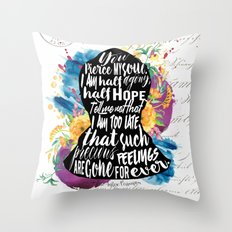 Persuasion - You Pierce My Soul Throw Pillow