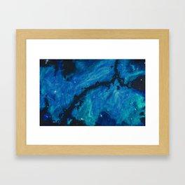 Blue Space Framed Art Print