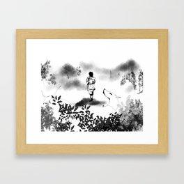 Fox and Friend Framed Art Print