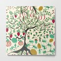 Fairy seamless pattern garden with plants, tree and flowers by fuzzyfox85