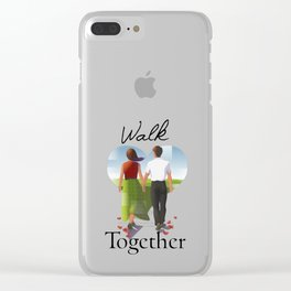 Walk Together Clear iPhone Case