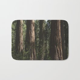 Sunlit California Redwood Forests Bath Mat