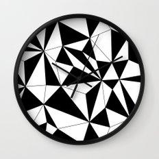 Geo - black and white Wall Clock