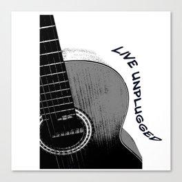 Acoustic Guitar, Live Unplugged Canvas Print