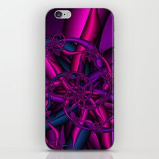 Pink Purple and Blue iPhone & iPod Skin