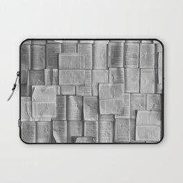 Novels Pattern (Black and White) Laptop Sleeve