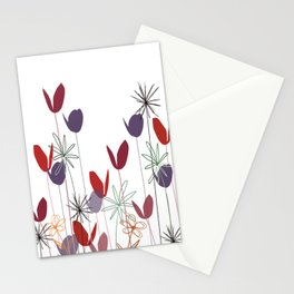 Flowers print, impresion decorativa Stationery Cards