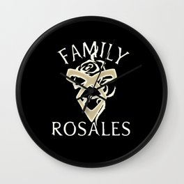 family rosales Wall Clock
